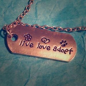 Jewelry - 🐾😍💕Live Love Adopt pendant necklace 💕🐾😍